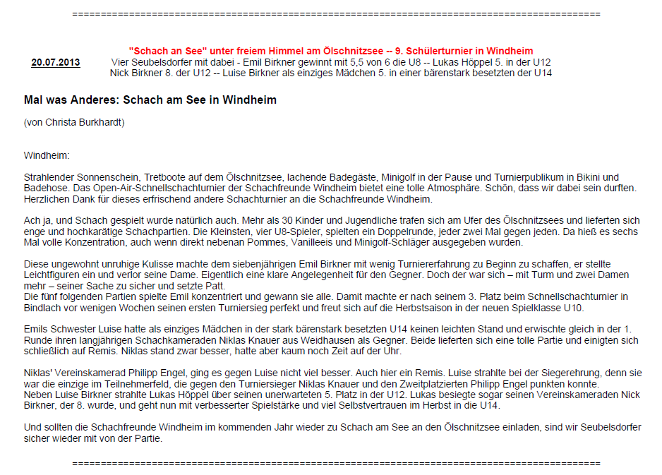 Bericht Seubelsdorf_2013